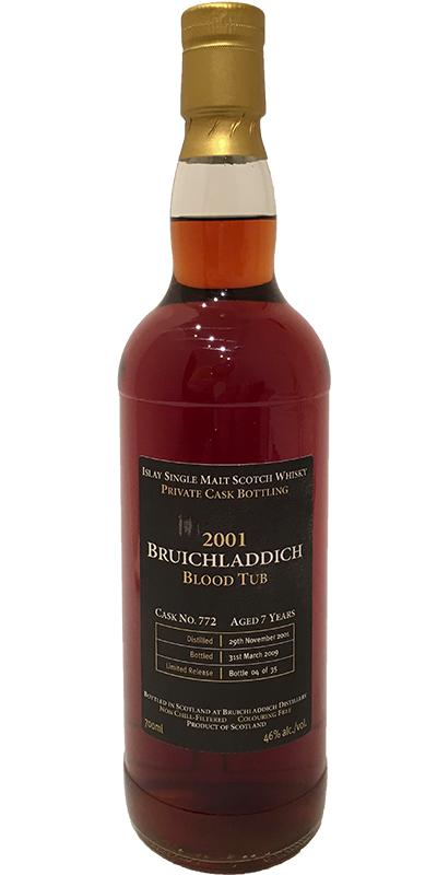 Bruichladdich 2001 Blood Tub