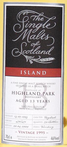 Highland Park 1995 SMS