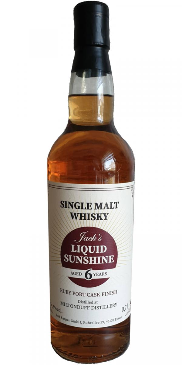 Miltonduff 06-year-old - Jack's Liquid Sunshine