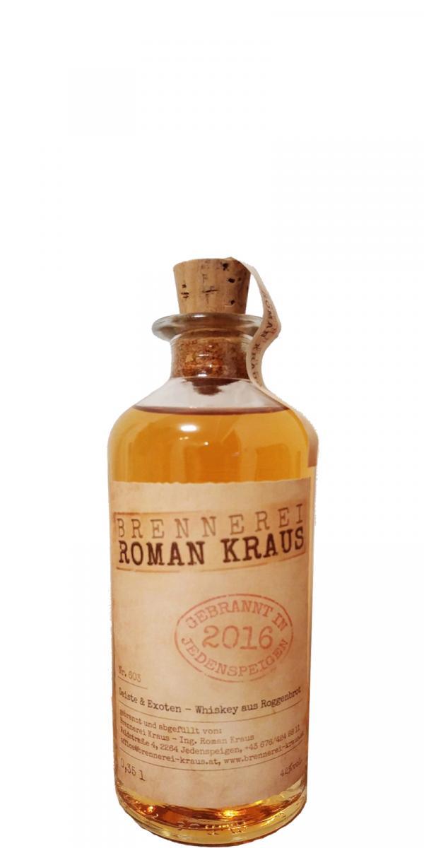 Brennerei Roman Kraus Geiste & Exoten - Whisky aus Roggenbrot