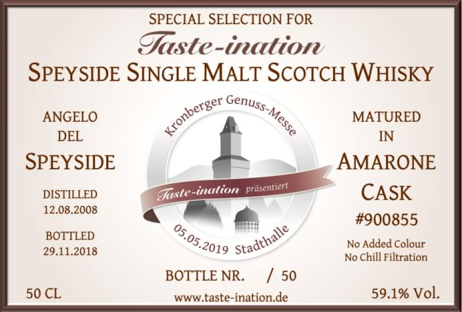 Speyside Single Malt Scotch Whisky Angelo del Speyside