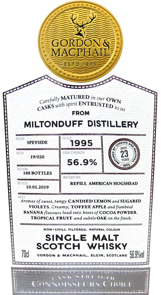 Miltonduff 1995 GM