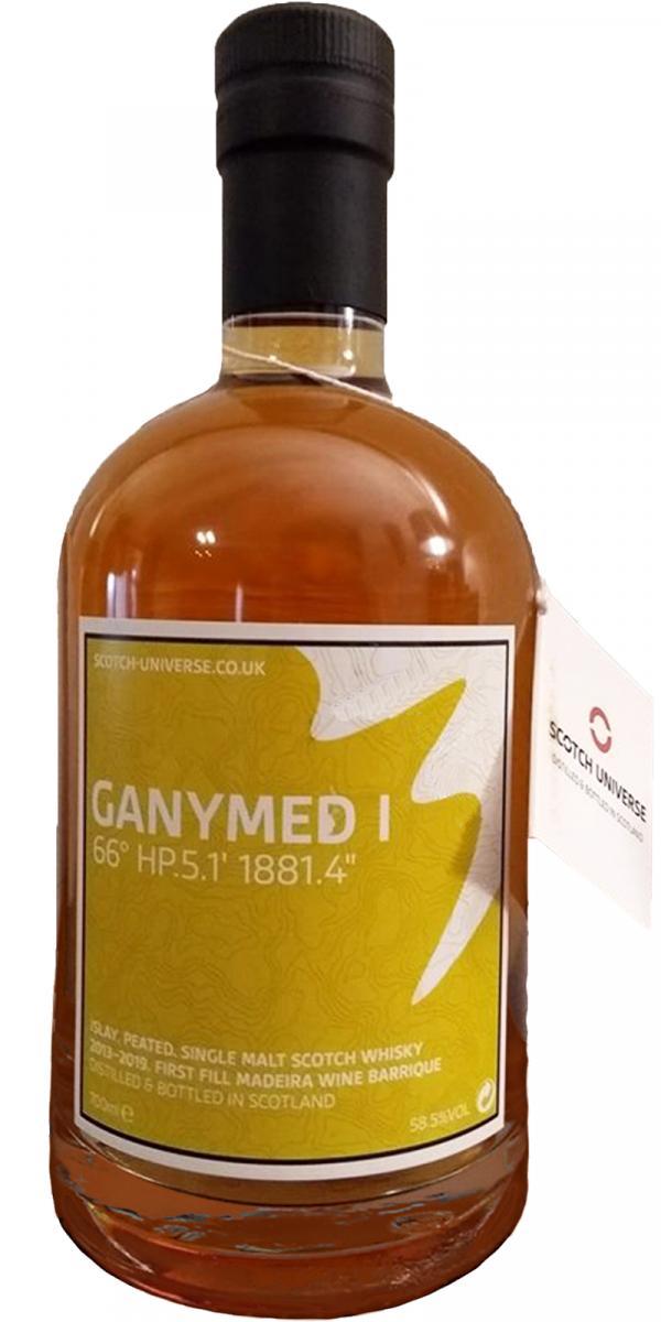 "Scotch Universe Ganymed I - ""66° HP.5.1' 1881.4"""