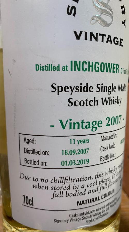 Inchgower 2007 SV