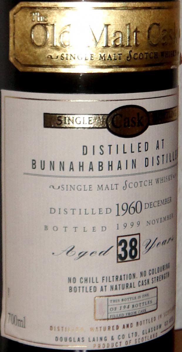 Bunnahabhain 1960 DL
