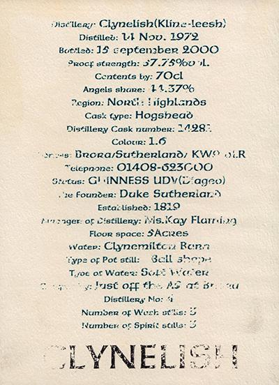 Clynelish 1972 3R