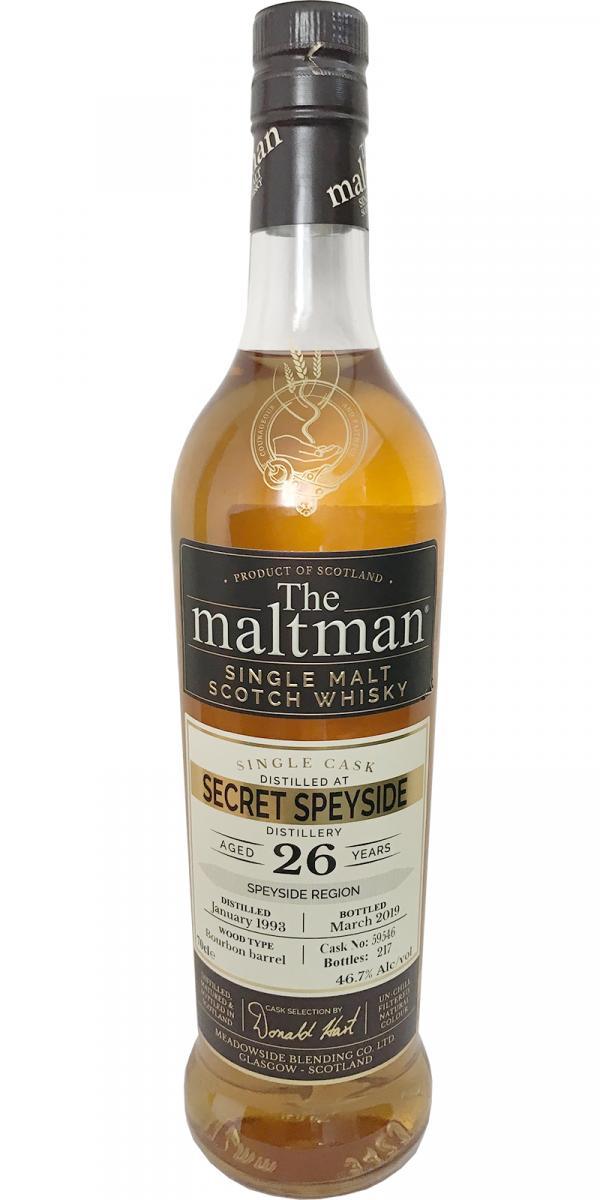 Secret Speyside Distillery 1993 MBl