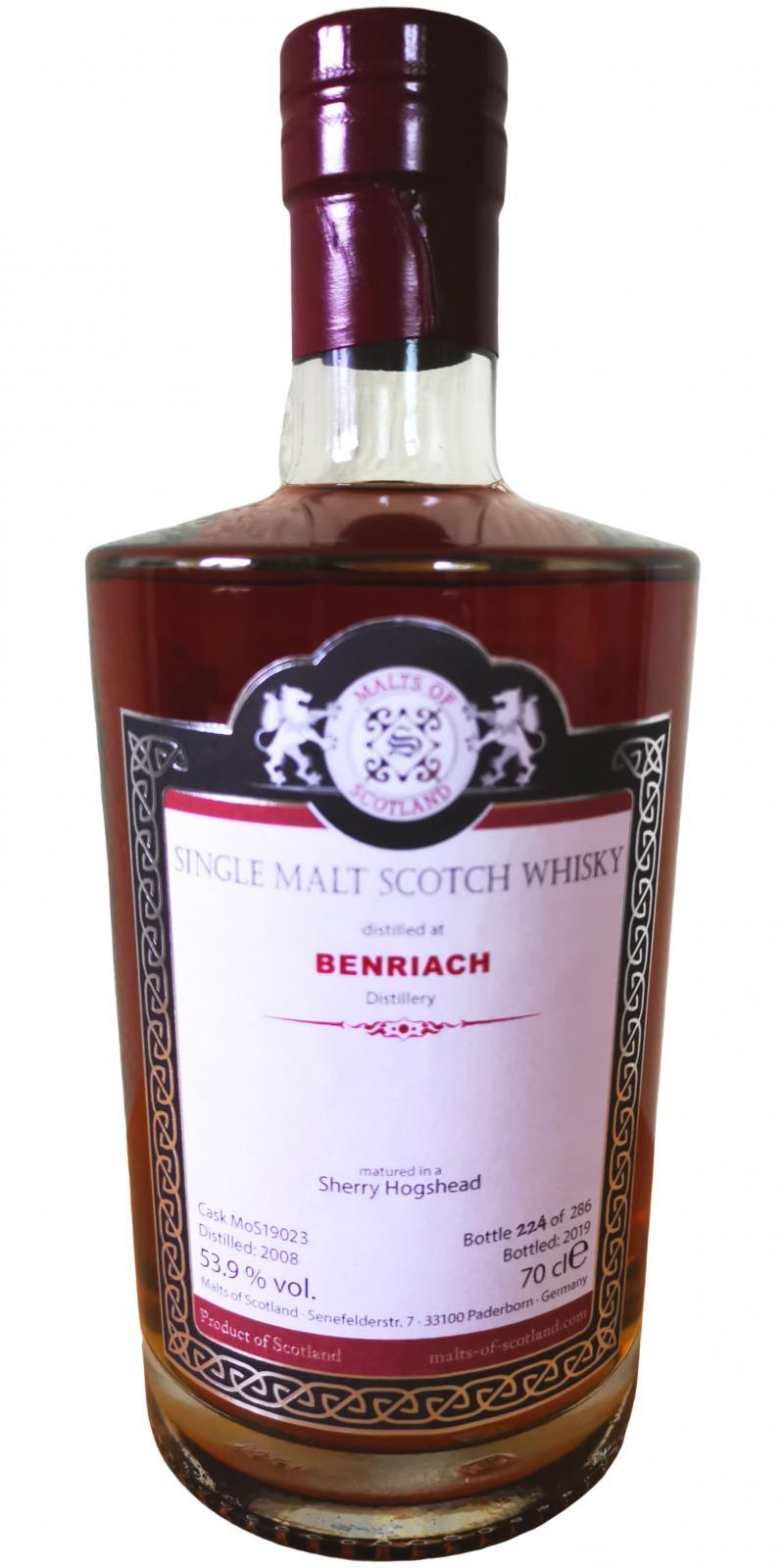 BenRiach 2008 MoS