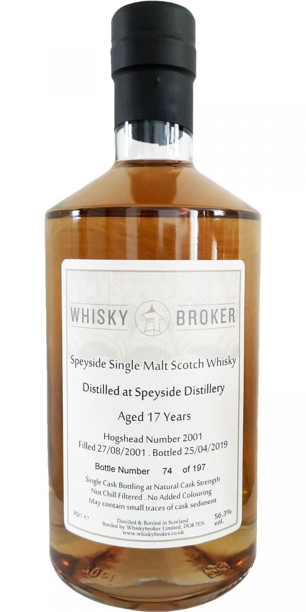 Speyside Distillery 2001 WhB