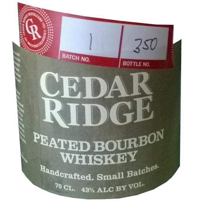Cedar Ridge Peated Bourbon Whiskey