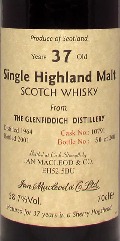 Glenfiddich 1964 IM