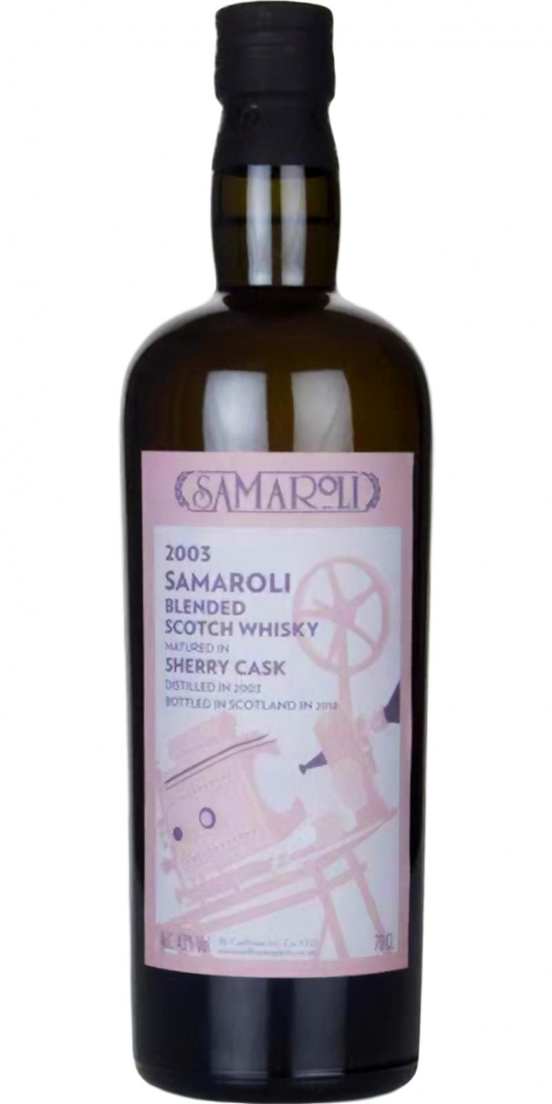 Blended Scotch Whisky 2003 Sa