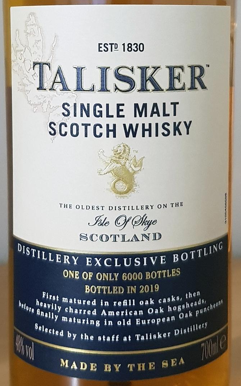 Talisker Distillery Exclusive Bottling