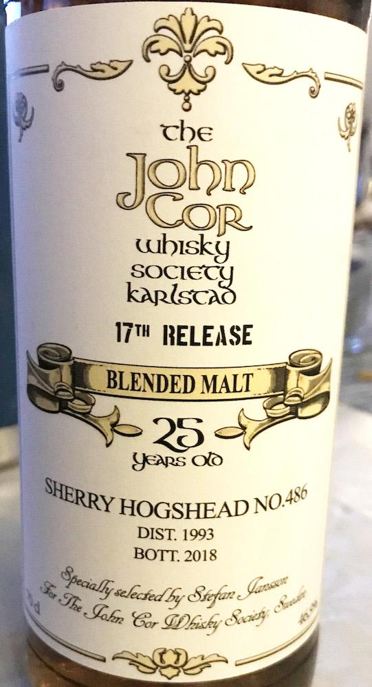 Blended Malt Whisky 1993 JCWS