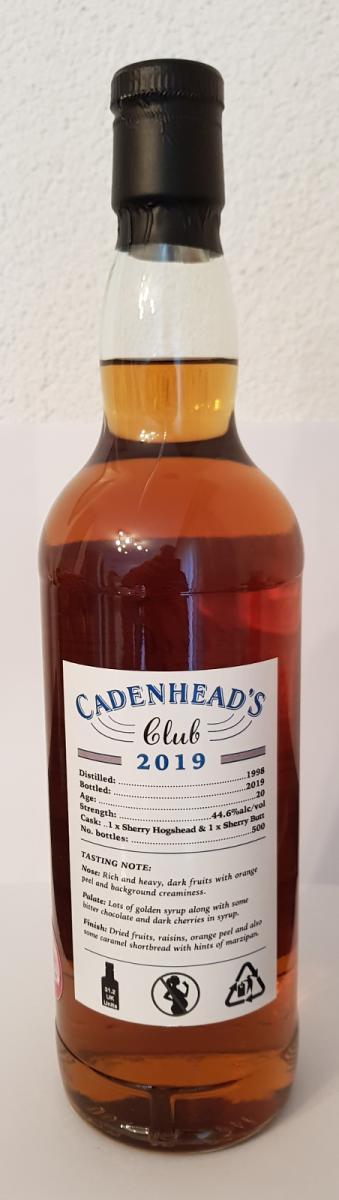 Blended Scotch Whisky 1998 CA
