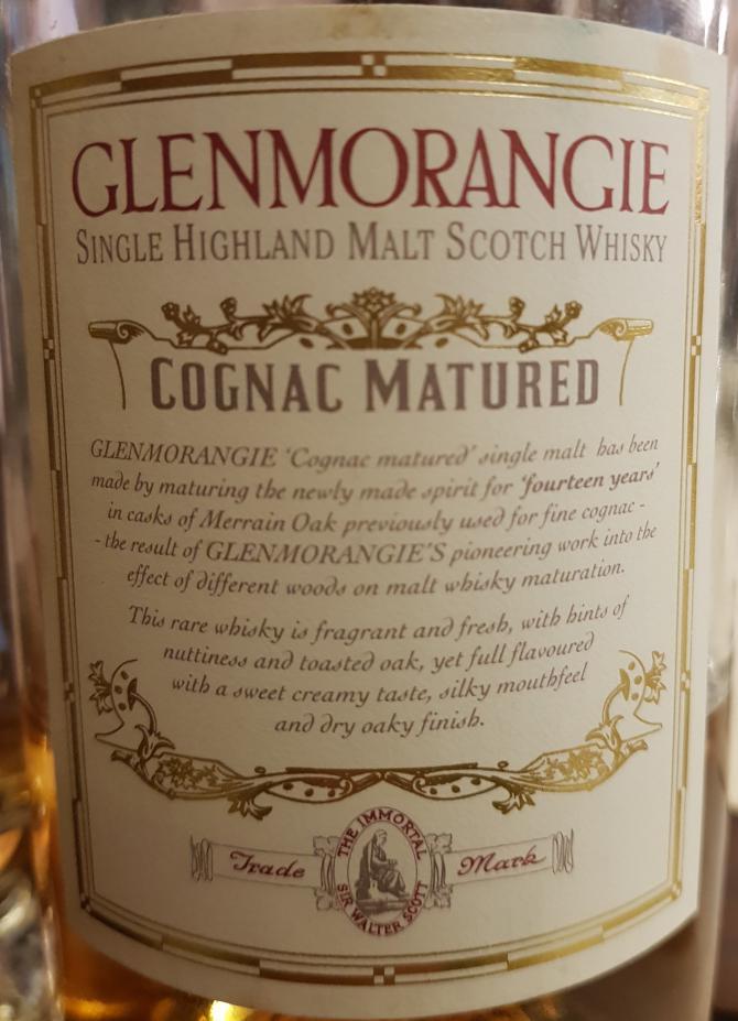 Glenmorangie Cognac Matured
