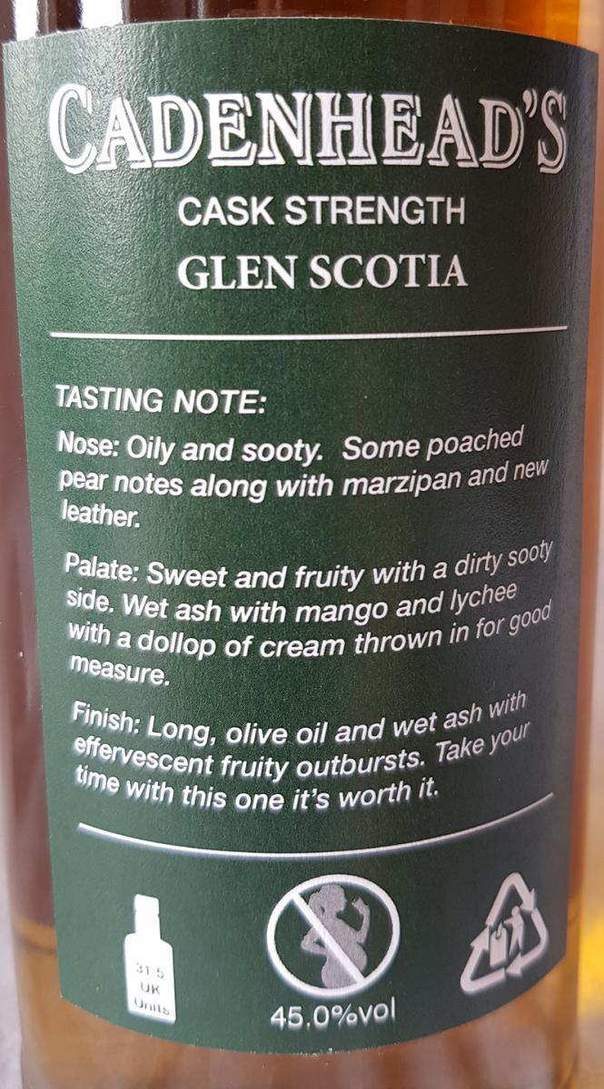 Glen Scotia 1992 CA