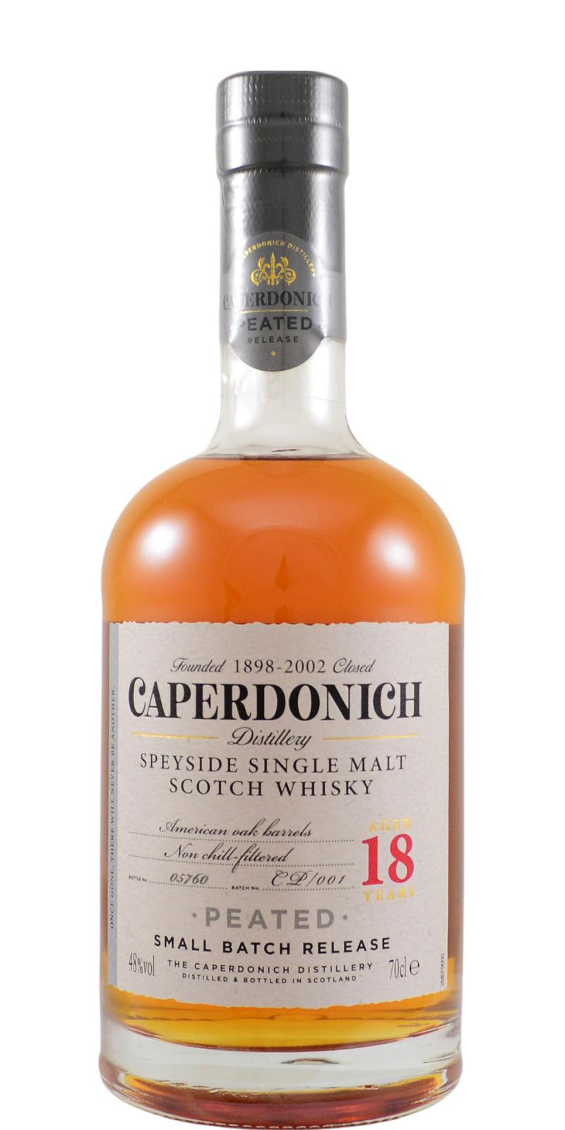 Caperdonich 18-year-old - Peated