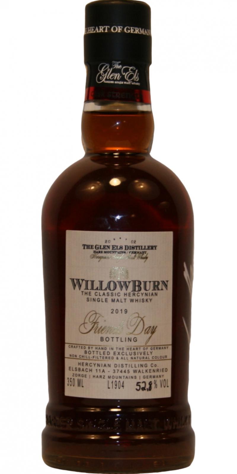 WillowBurn Friends Day Bottling 2019
