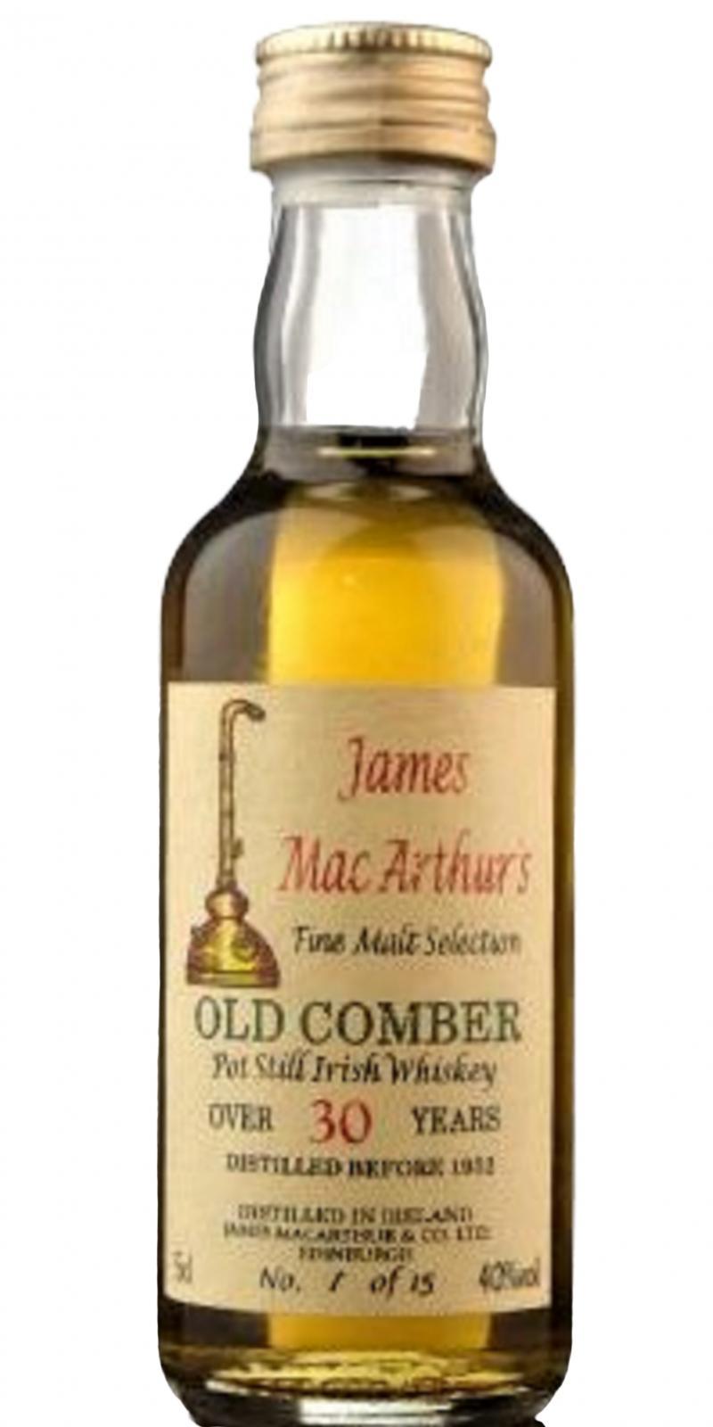Old Comber 30-year-old JM