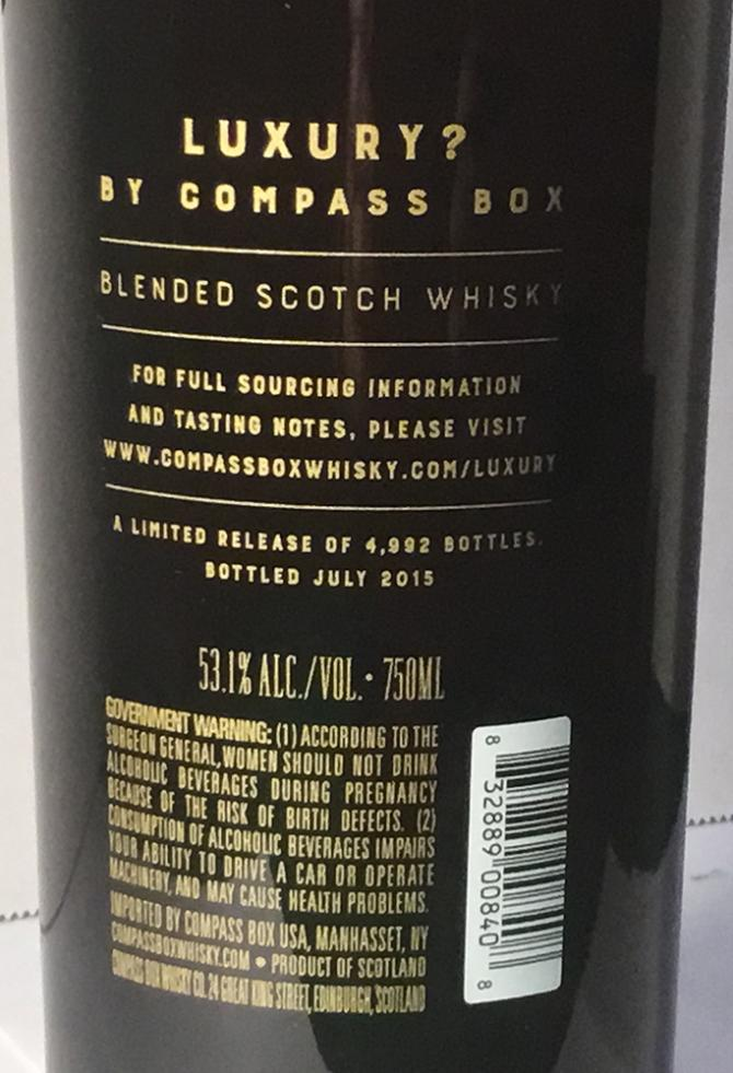 This is not a luxury Whisky CB