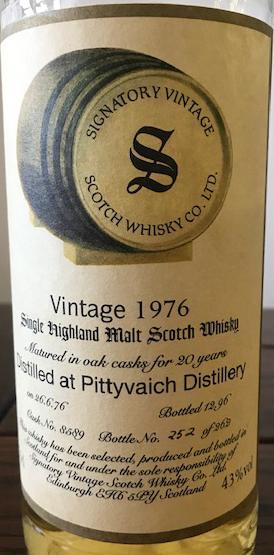 Pittyvaich 1976 SV