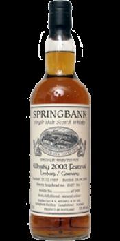 Springbank 1989 Whisky Festival