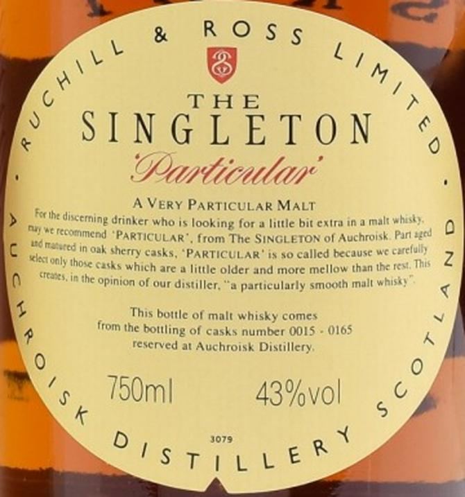 The Singleton of Auchroisk 1980