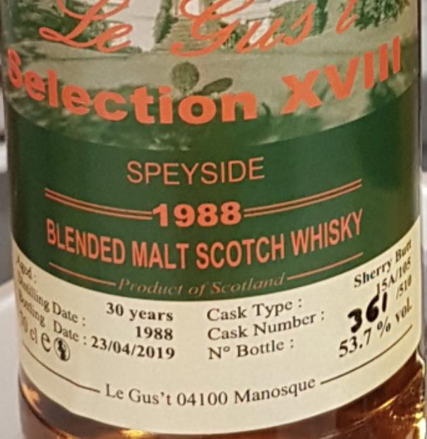 Speyside 1988 LEG