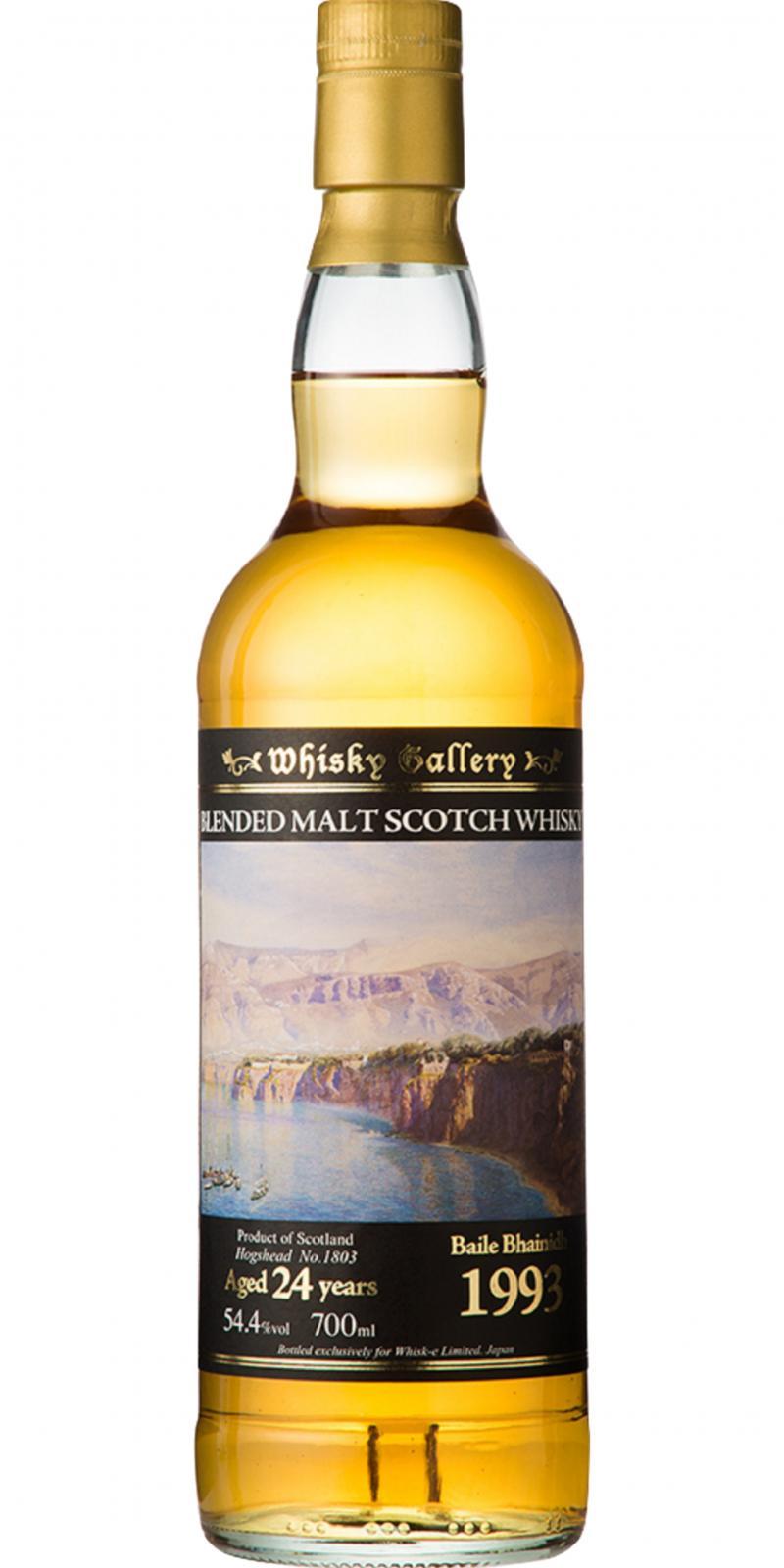 Blended Malt Scotch Whisky 1993 Baile Bhainidh W-e