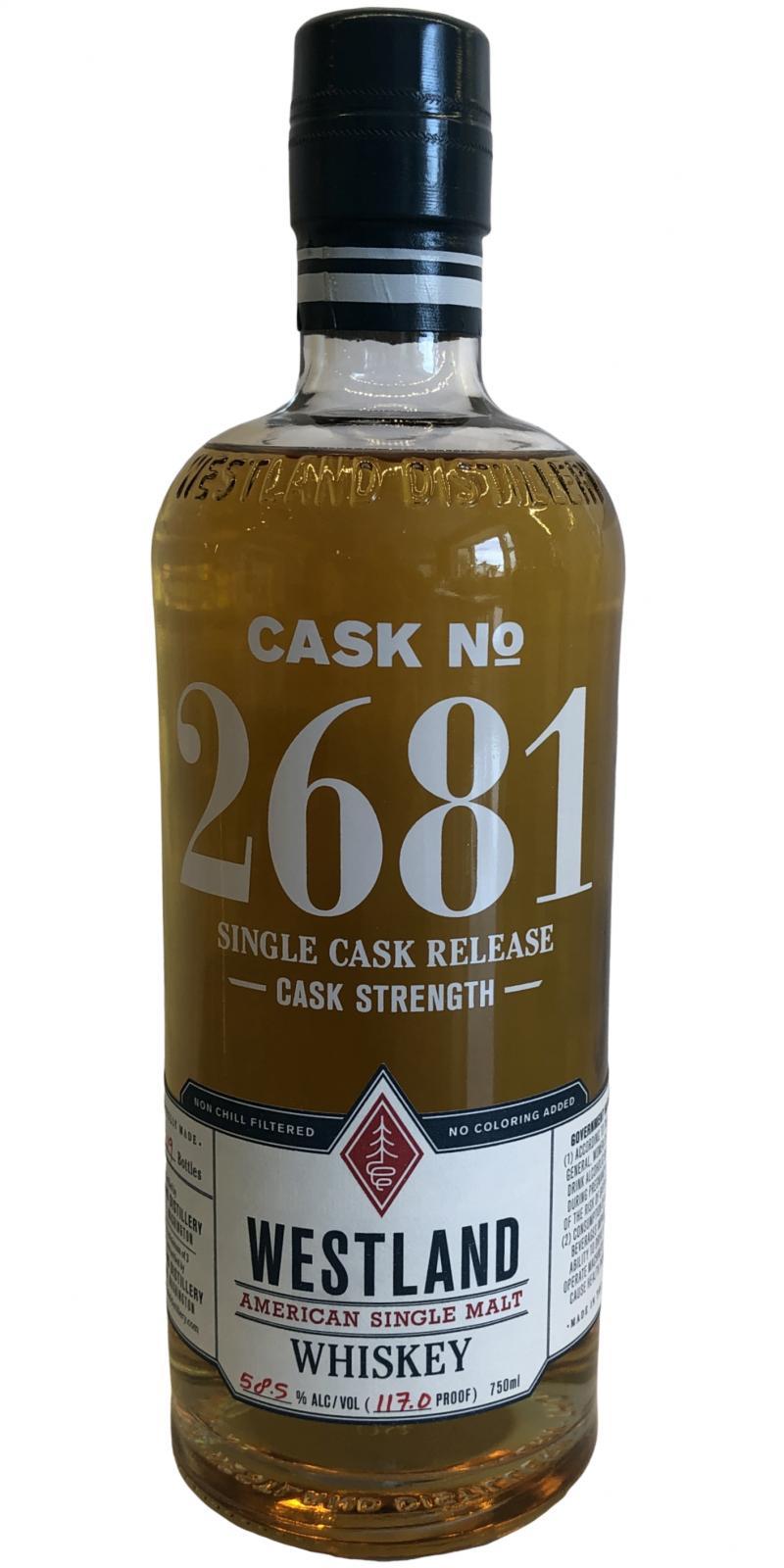 Westland Cask No. 2681 - Golden Promise