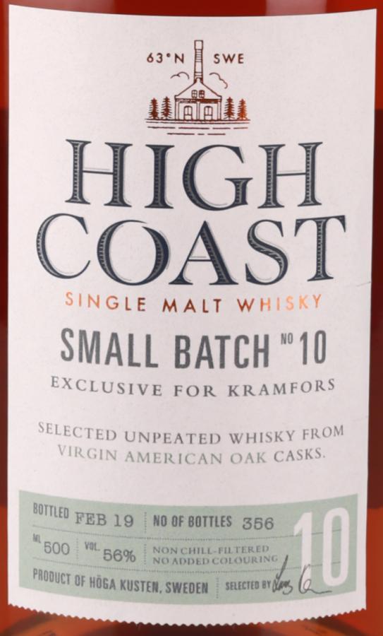 High Coast Small Batch No 10