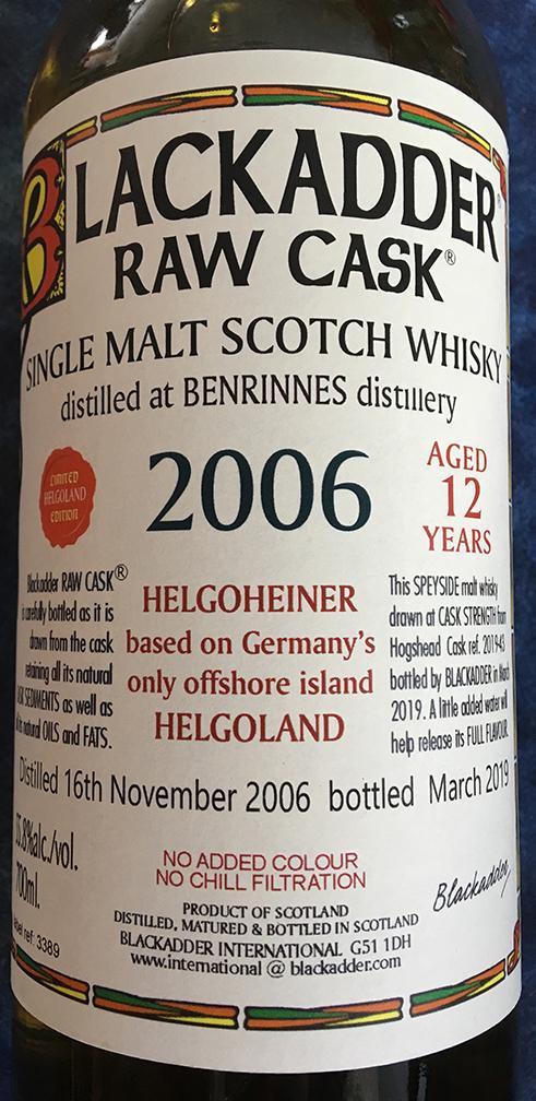 Benrinnes 2006 BA