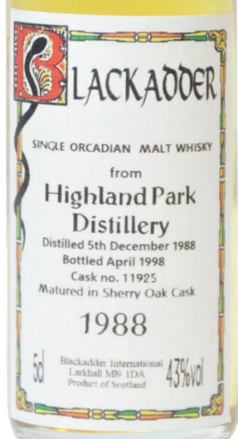 Highland Park 1988 BA
