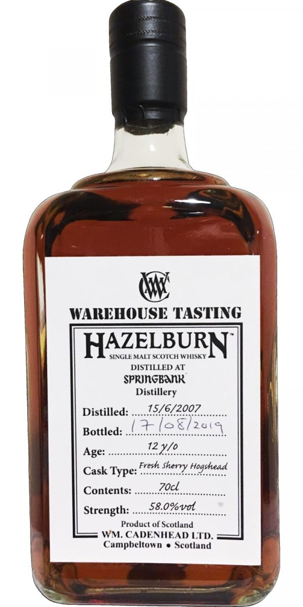 Hazelburn 2007 CA