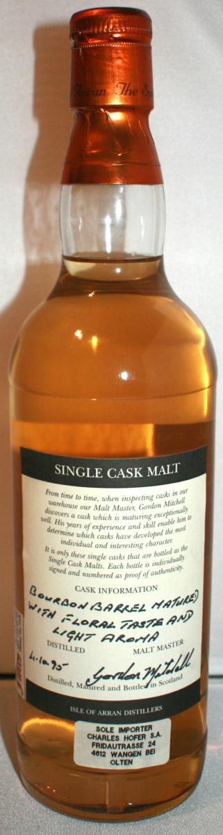 Arran 1995 Single Cask Malt
