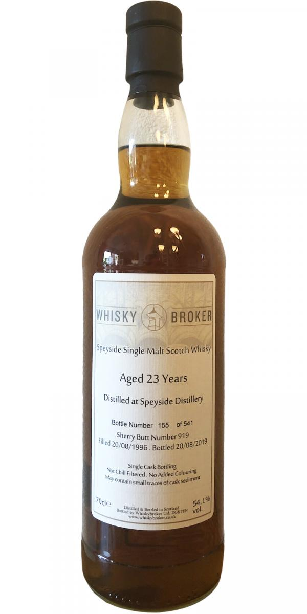 Speyside Distillery 1996 WhB