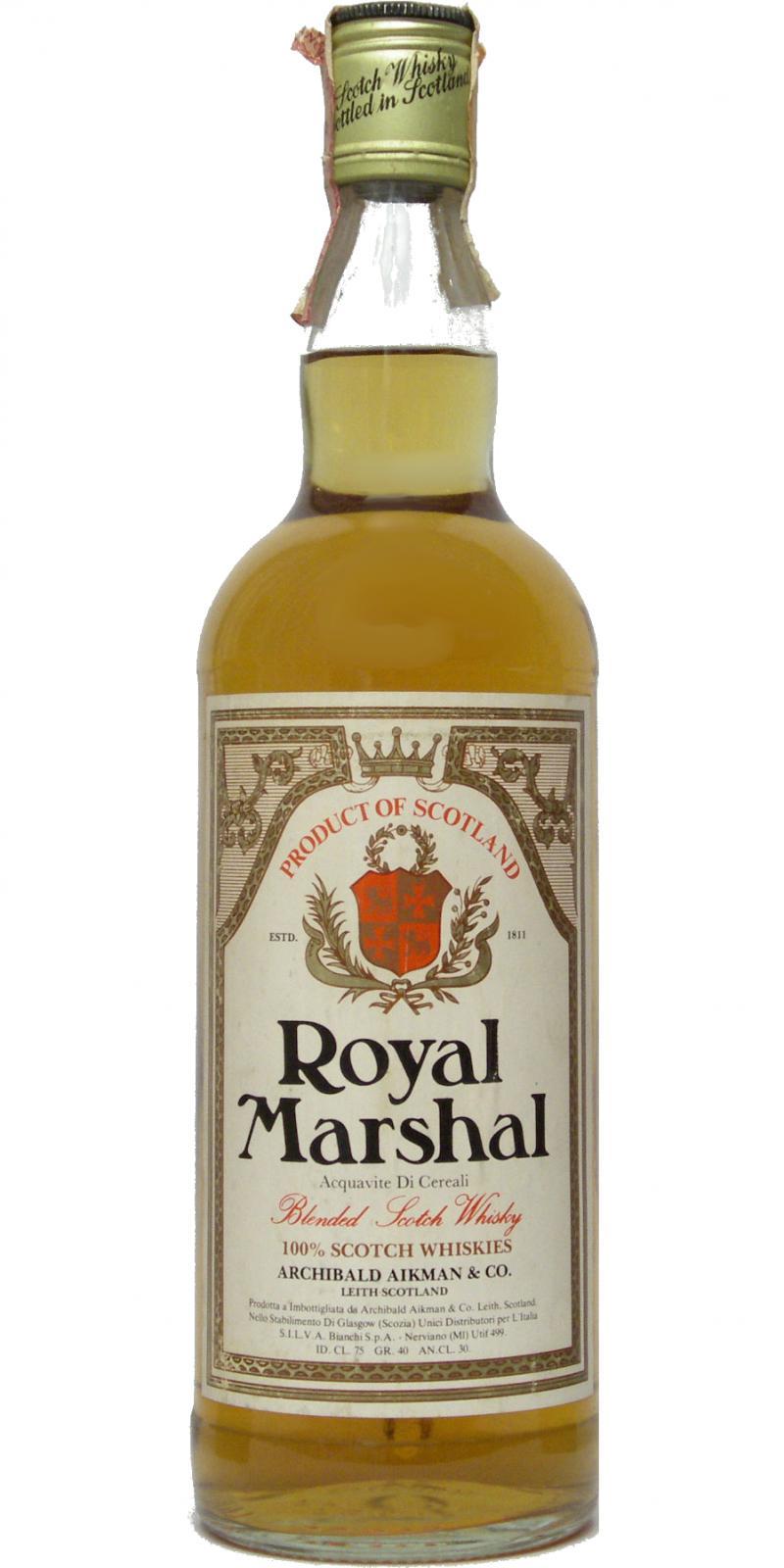 Royal Marshal Blended Scotch Whisky
