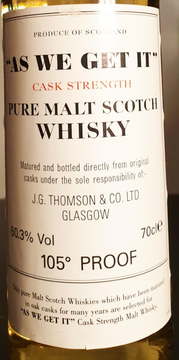 As We Get It Pure Malt Scotch Whisky