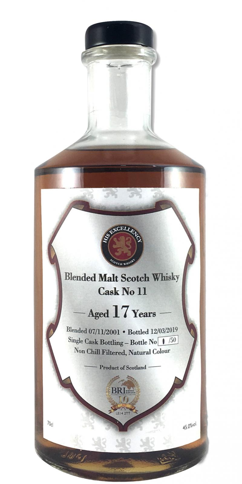 Blended Malt Scotch Whisky 17-year-old