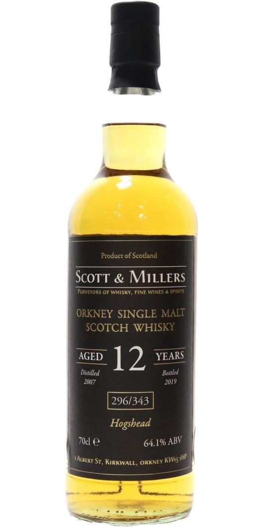 Orkney Single Malt Scotch Whisky 2007 S&M