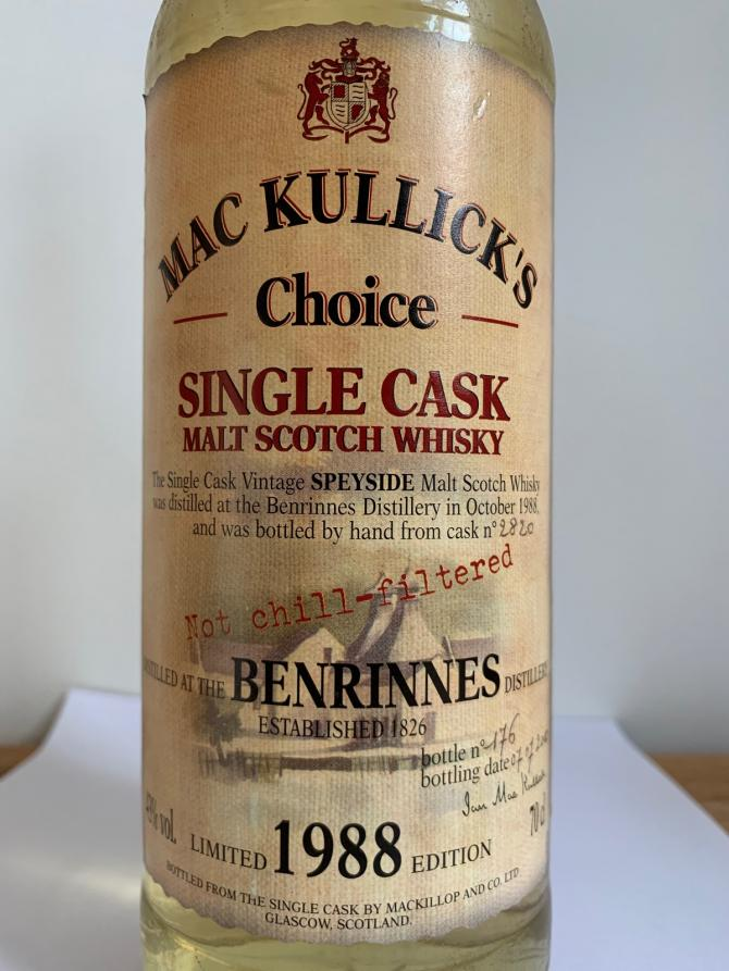 Benrinnes 1988 McC