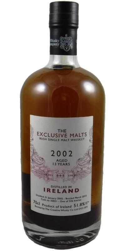 Irish Single Malt Whiskey 2002 CWC