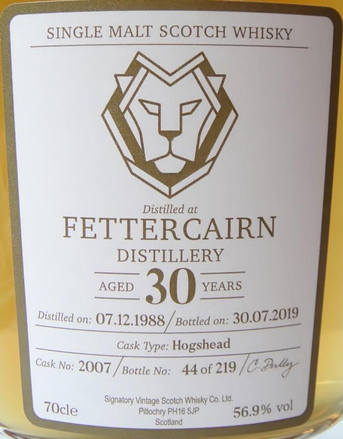 Fettercairn 1988 SV
