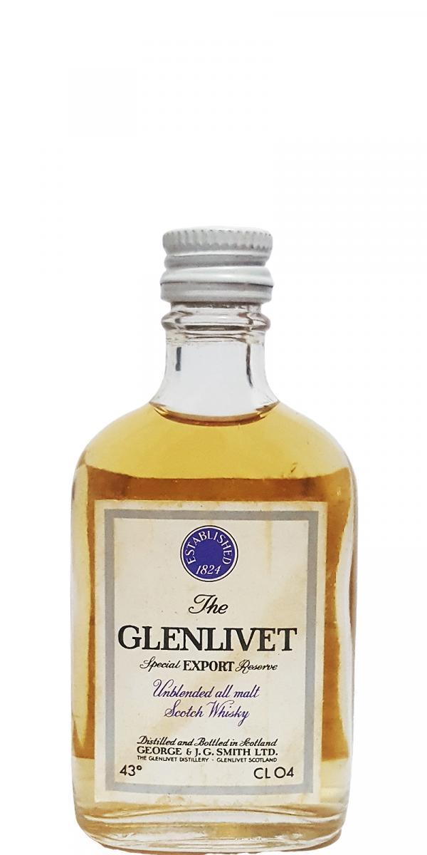 Glenlivet Unblended all malt Scotch Whisky