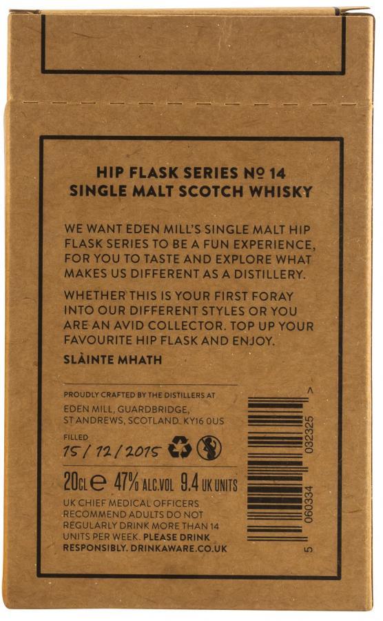 Eden Mill Hip Flask Series No. 14