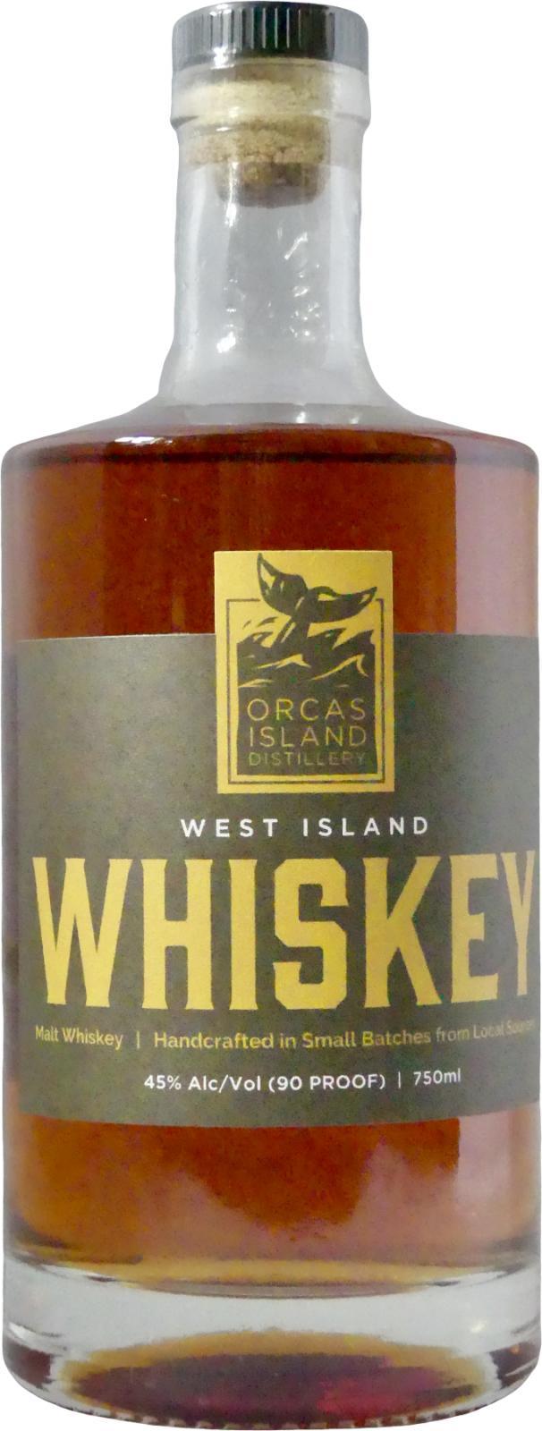 Orcas Island West Island Whiskey
