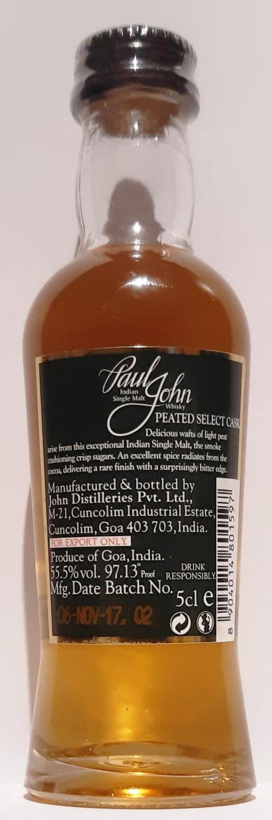 Paul John Peated Select Cask