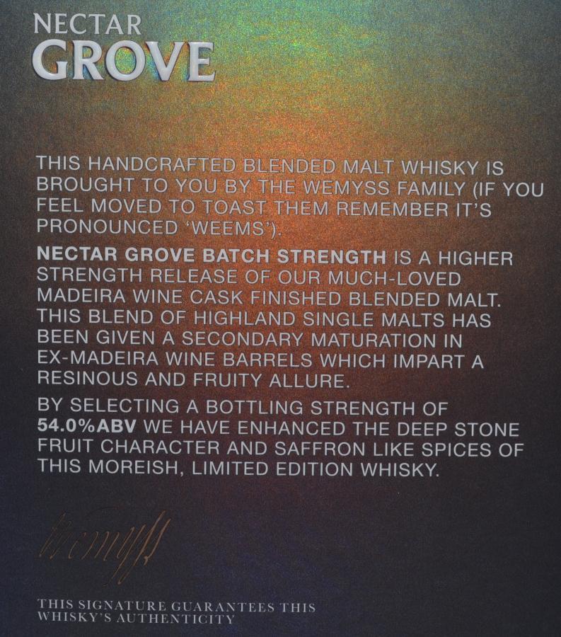 Nectar Grove Blended Malt Scotch Whisky Wy