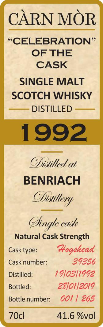 BenRiach 1992 CM